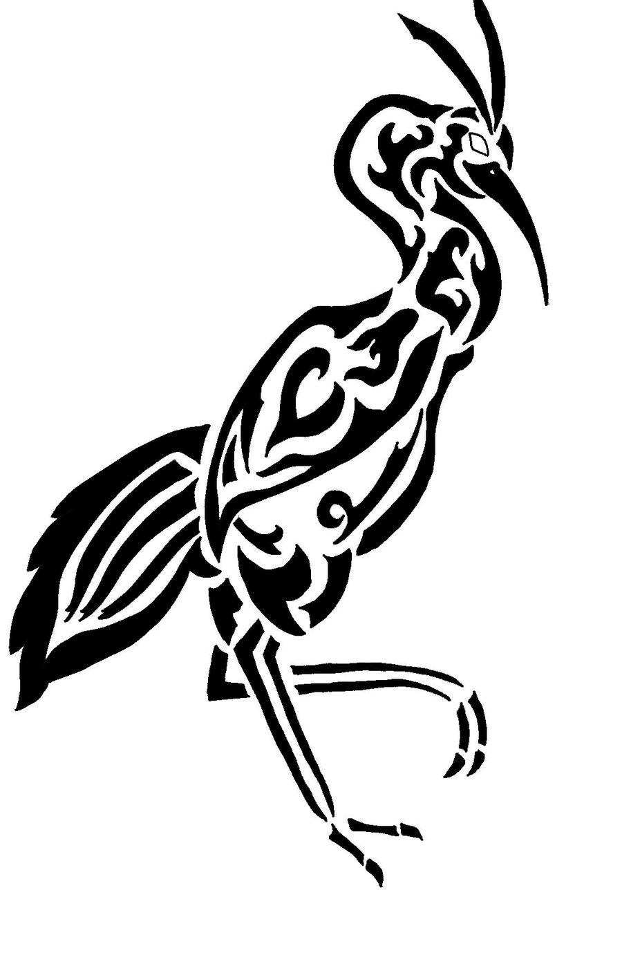 Tribal Bird Tattoos