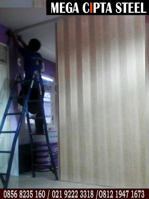 Gambar Folding Door Sekat Ruang PVC Jakarta Bekasi Depok