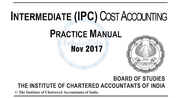 IPCC Cost Accounting Practice Manual