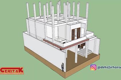 Desain Konstruksi Rumah 3 Lantai di lahan 10 m × 15 m