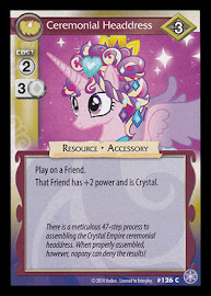 My Little Pony Ceremonial Headdress The Crystal Games CCG Card