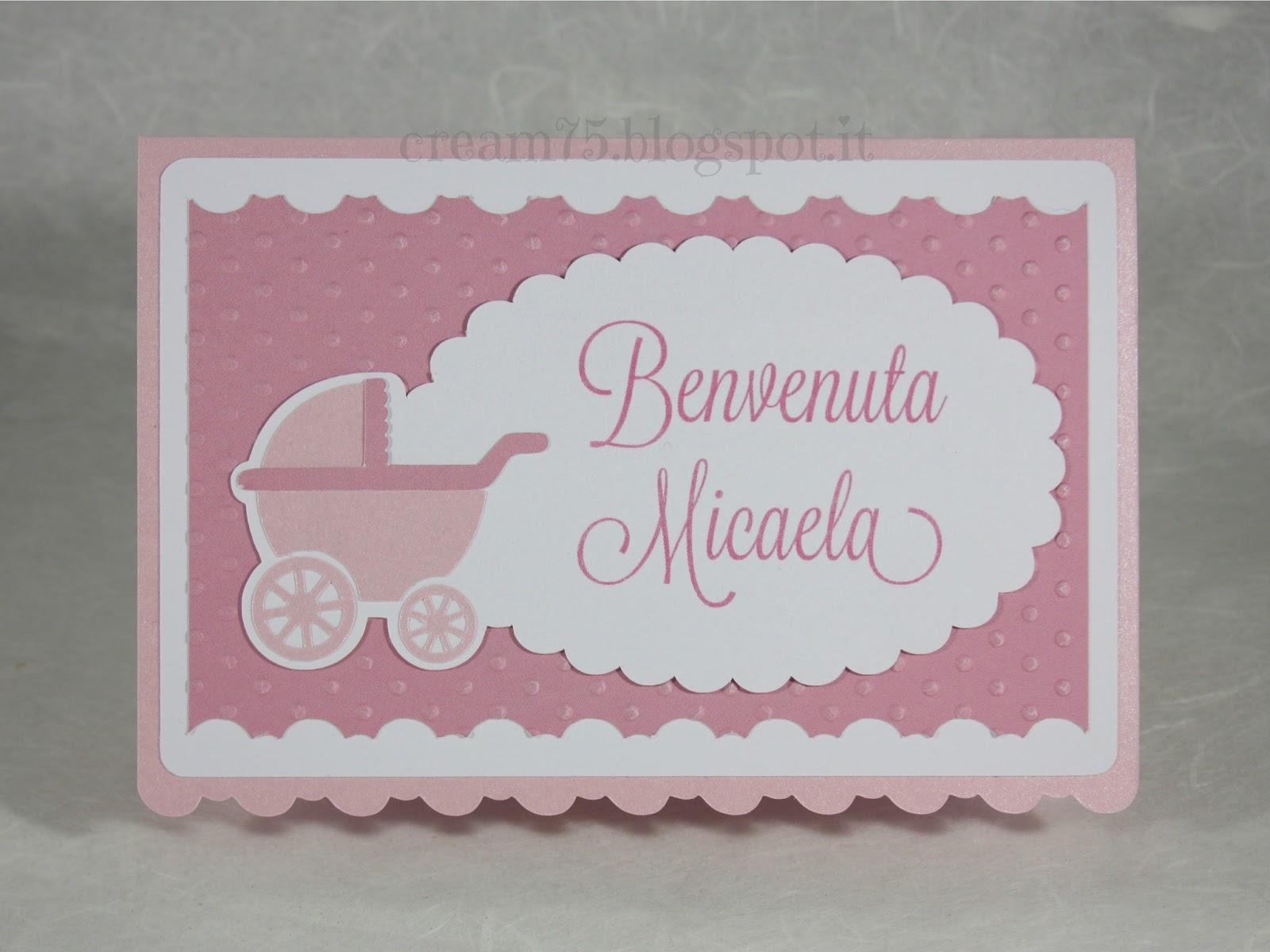 Eccezionale My Sweet Blog: Biglietto di auguri per la nascita di una bimba II66