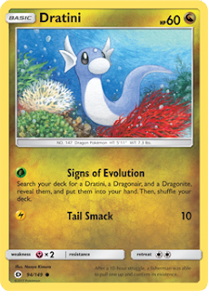 Dratini Sun and Moon Pokemon Card