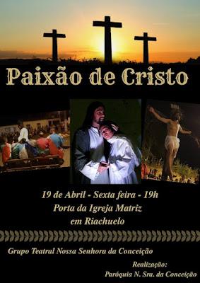 Riachuelo terá encenação da Paixão de Cristo nesta Sexta-feira Santa