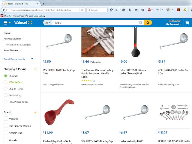 A regular ladle is cheap!