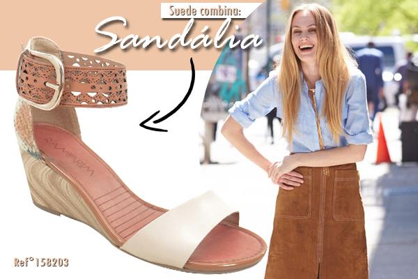 Suede combina com sandália!