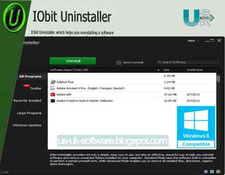 Download IObit Uninstaller 5.3 For Windows 8 Activator Download