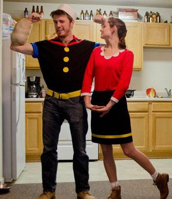 popeye-y Oliva disfraz parejas