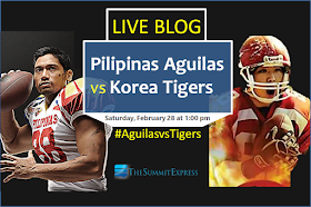 Pilipinas Aguilas vs Korea Tigers Coverage, Scores, Results