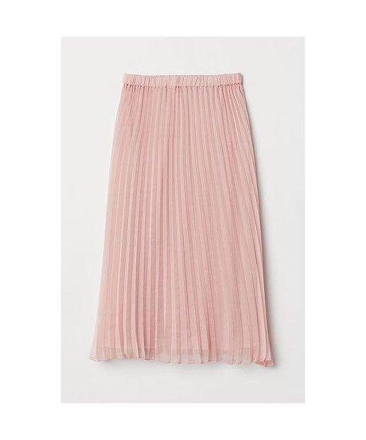 H & M - Plissierter Rock - Pink - Damen
