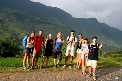 A group of Sapa trekkers