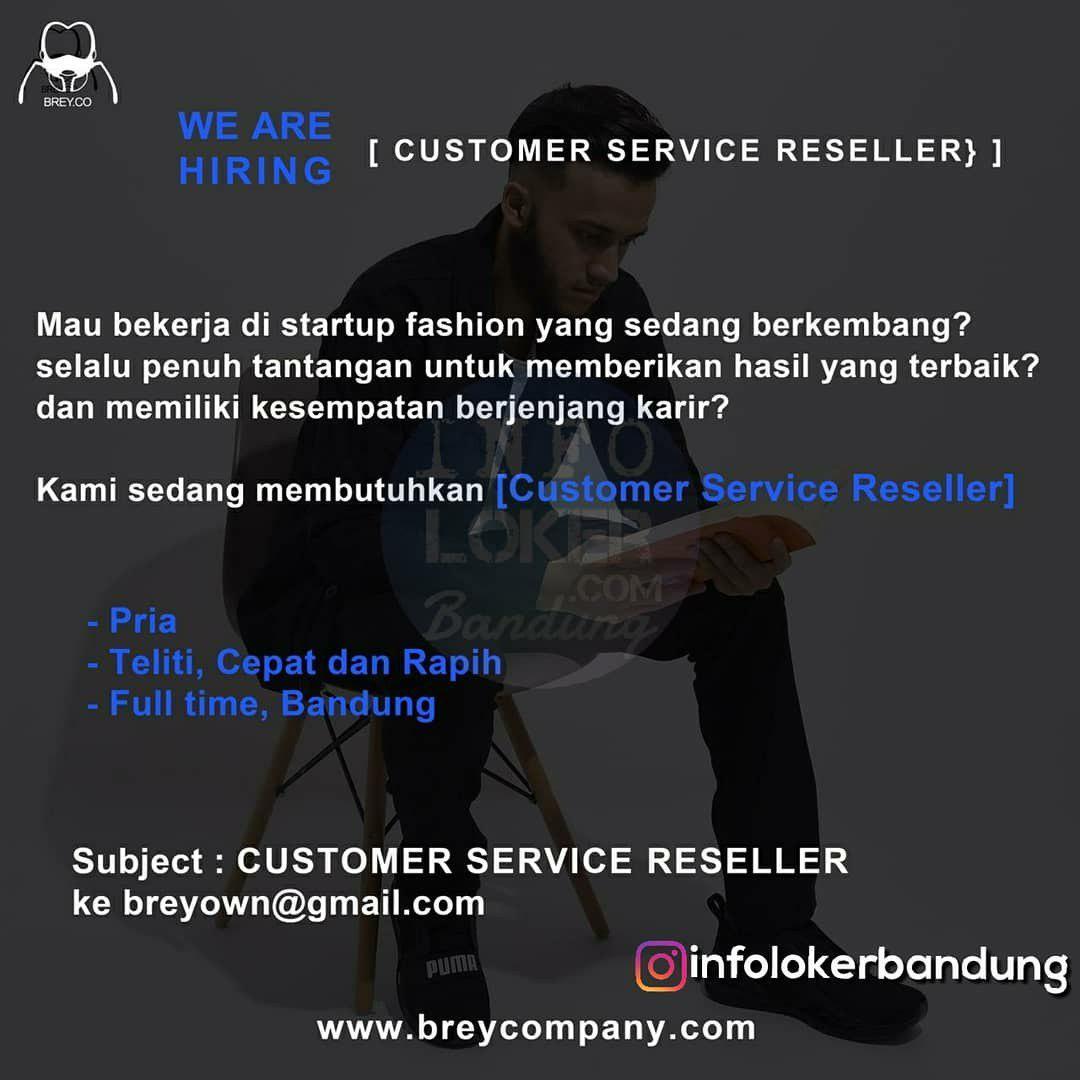 Lowongan Kerja Csutomer Service Brey Co Bandung Desember 2018