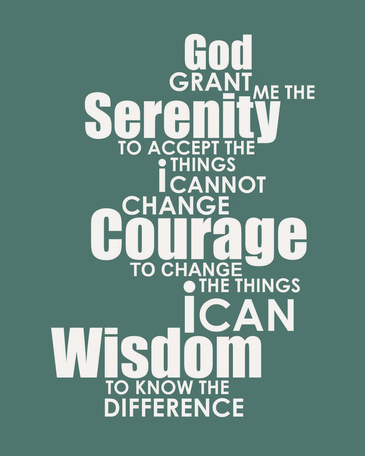 Lose The Excuses Peace Through The Serenity Prayer