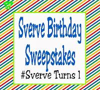 Sverve Birthday Sweepstakes! Happy Birthday! #SverveTurns1