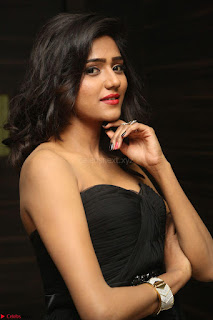 Shalu Chourasiya in spicy Sleeveless Strapless Black Top at O Pilla Nee Valla Movie Audio Launch Feb 2017 123.JPG