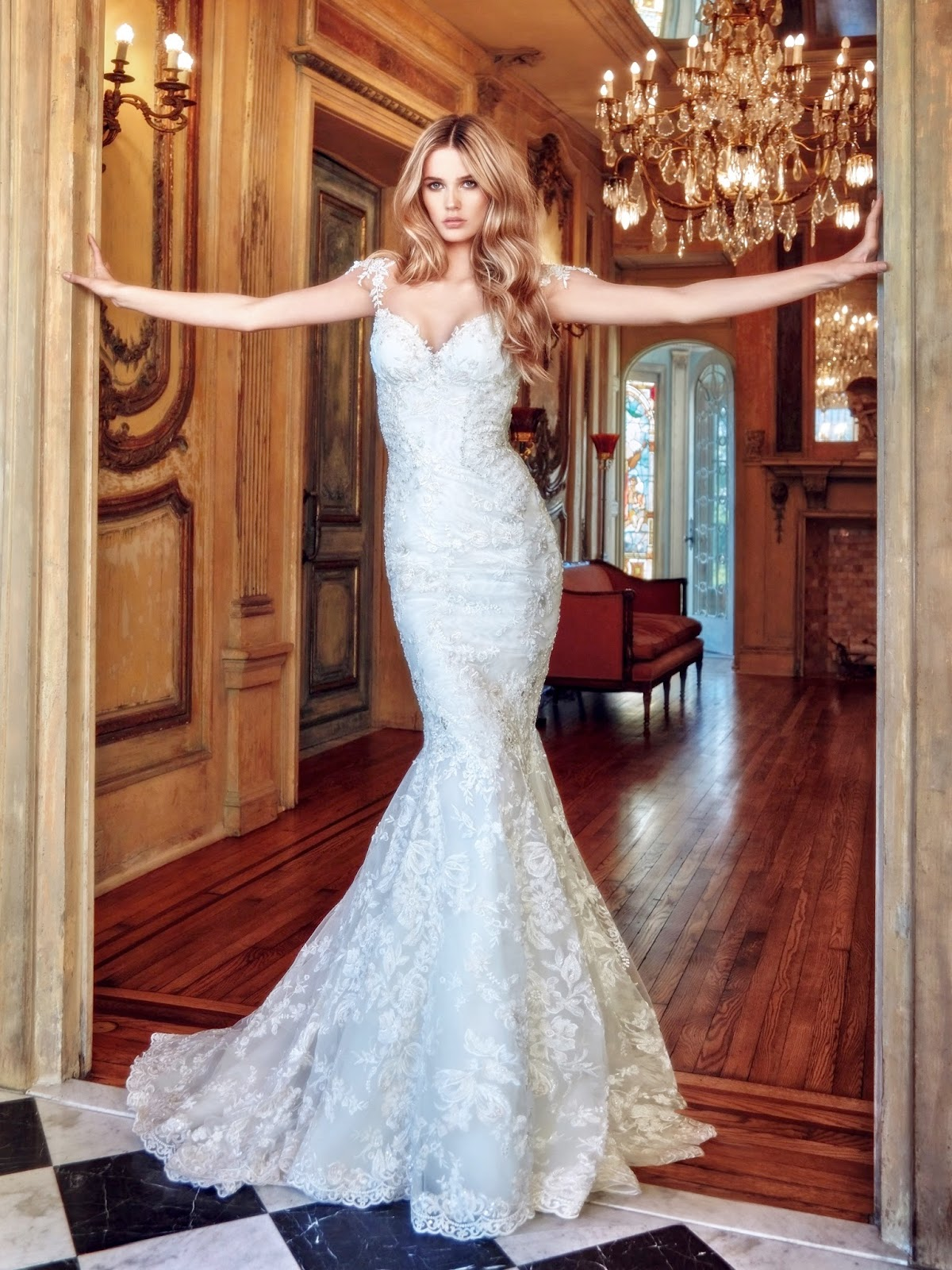 Galia lahav spring 2017 wedding dresses esoes life here is a model of a mermaid style wedding dresses and also we have a pretty deep on the back applique neckline with lace detailing include crystal beads ombrellifo Image collections