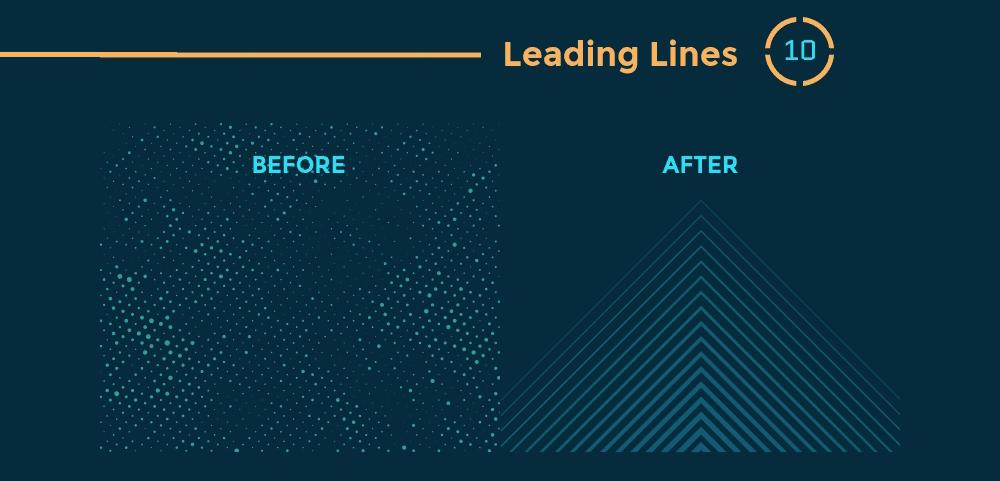 12 Prinsip Hierarki Visual Desain Grafis - Leading Lines