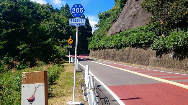 奥多摩駅から奥多摩湖まで上り奥多摩周遊道路で東京都で一番高い道路「風張峠」を越えて檜原村へ。檜原村から武蔵五日市駅まで下るサイクリングコース