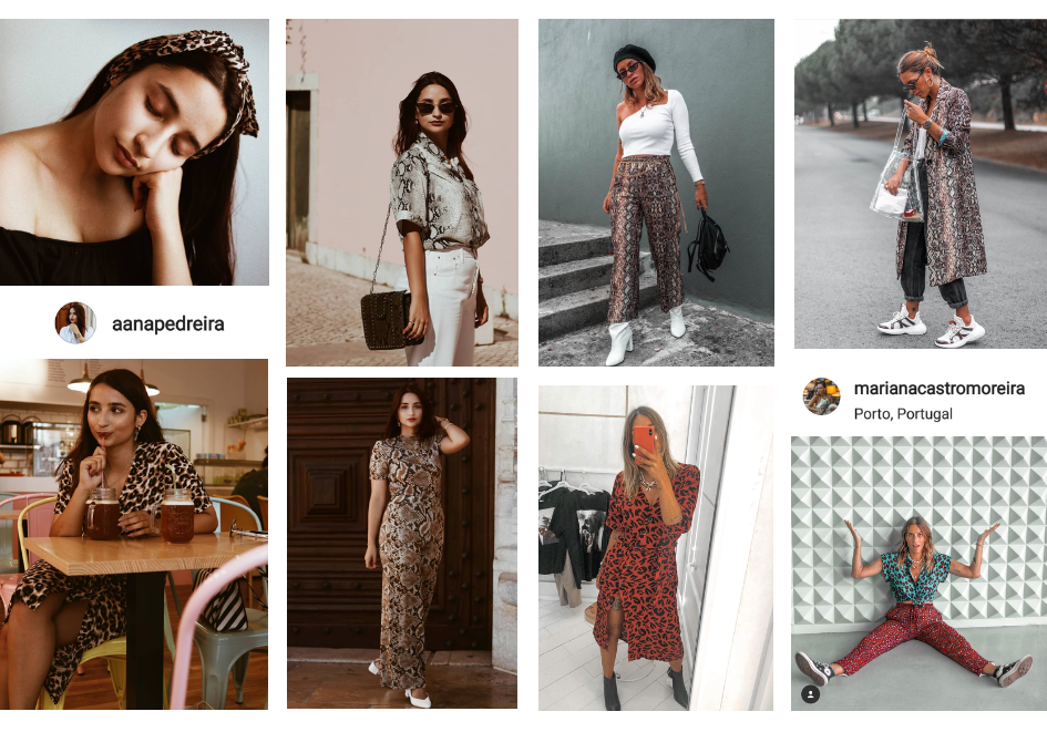 some instagramers using this new trend, animal print