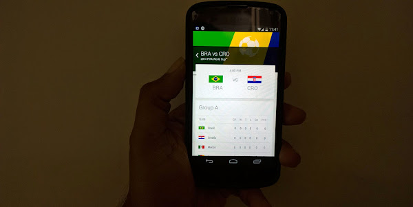 Track your favorite FIFA 2014 teams on Google Now