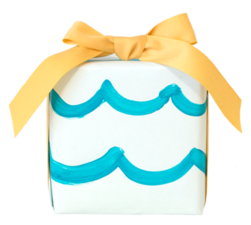 Wrapped In Waves - A Summer Painted Package by Love. Luck. Kisses & Cake | LLK-C.com