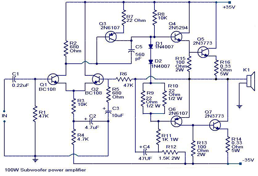 100 Watt sub woofer amplifier ~ Amits IT Blog (Latest ...