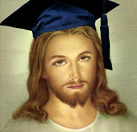 Jesus with graduation cap derived from http://www.flickr.com/photos/mike52ad/3007681001/sizes/o/ and http://www.flickr.com/photos/ginnerobot/3565531454/