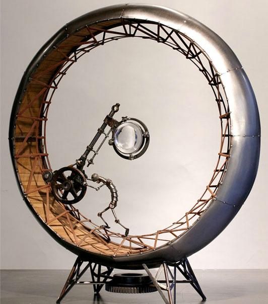 Extrañas y únicas esculturas steampunk.
