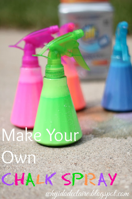 DIY chalk spray, chalk spray tutorial, how to make your own chalk spray