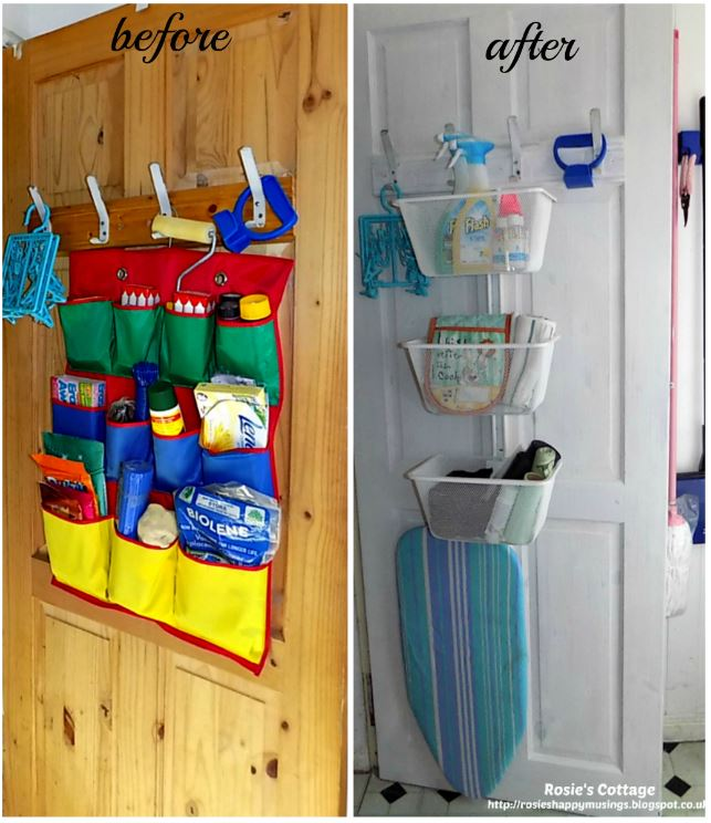 Cupboard door storage before & after