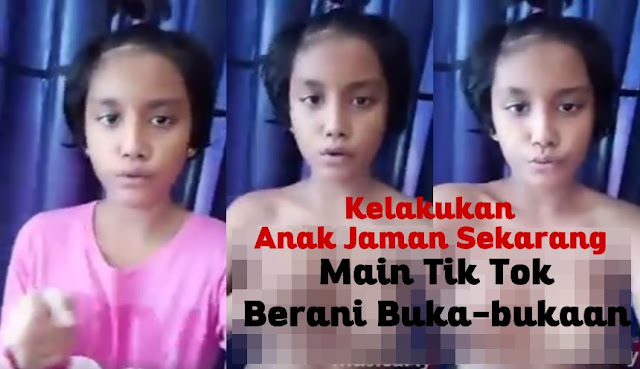 Waduhh, Gadis Kelas 2 SMP Berani Main Aplikasi Tik Tok Tanpa Busana, Ini Videonya