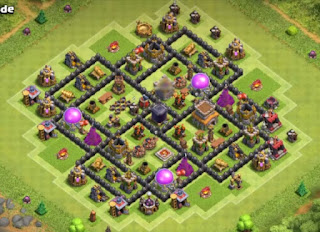 Best COC TH8 Hybrid Bases With Bomb Tower