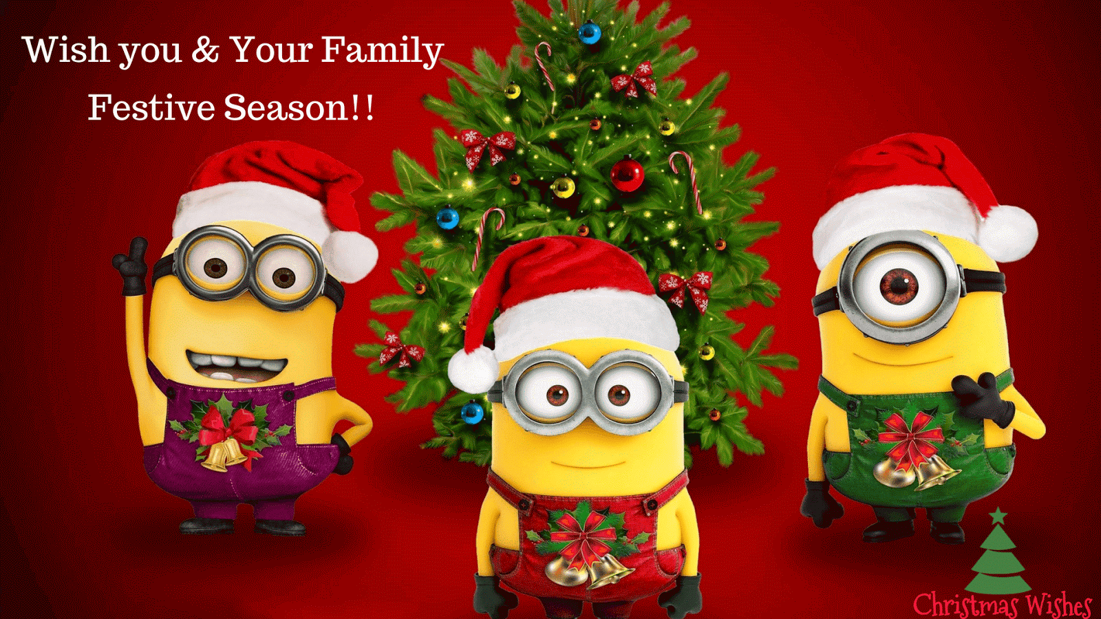 10 amazing minions merry christmas wallpapers will blow. Black Bedroom Furniture Sets. Home Design Ideas