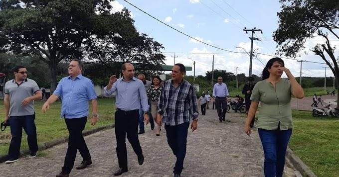 EMENDA - Senador Roberto Rocha e ex-prefeito Paulo Marinho visitam obras em andamento no IFMA