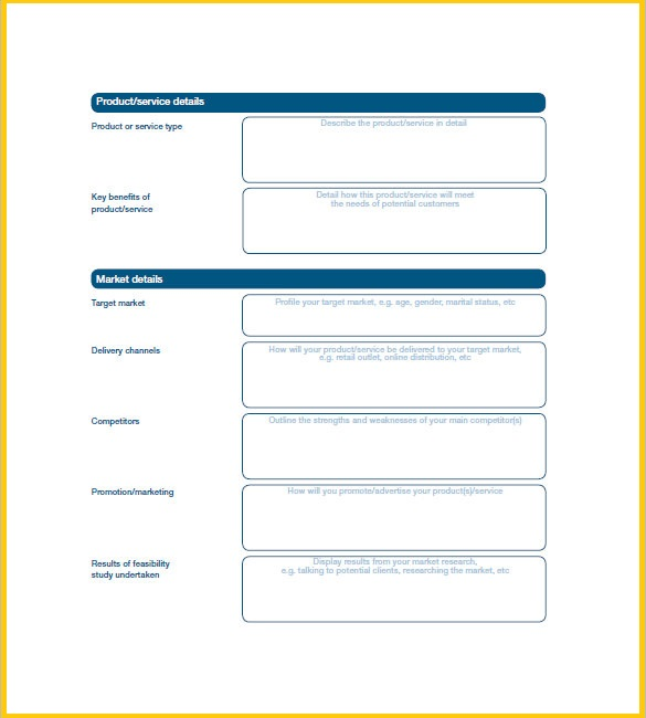 Easy Business Plan Template Free  Resume Business Template