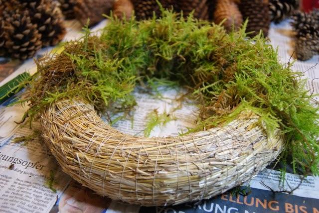 Filz und garten gartenblog der adventskranz 2014 ist - Weihnachtsdeko naturmaterialien ...