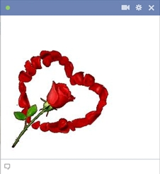 Rose flower emoticon