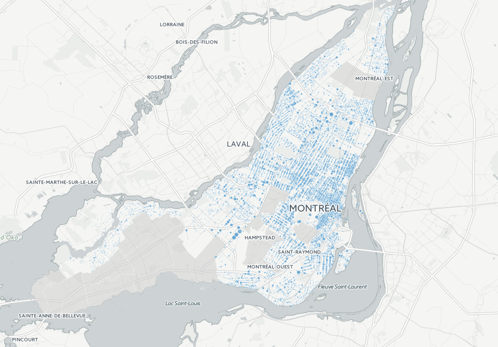 Mapping Montreal's hot spot of crime
