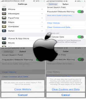 Cara Menghapus History, Cookies, Cache Internet di Safari Iphone dan ipad (IOS) Terbaru