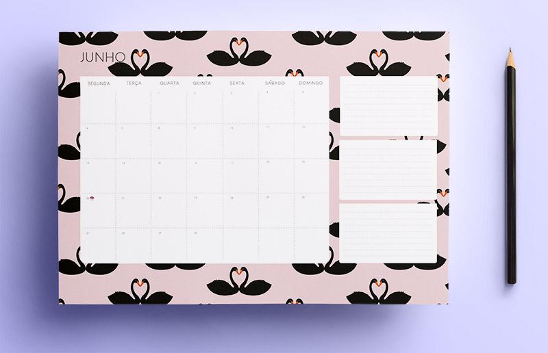 Calendário de abril, maio e junho de graça pra baixar e já organizar o trimestre inteiro!