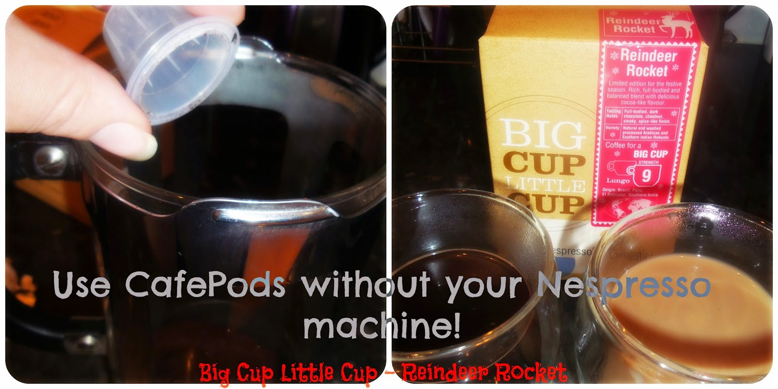 Use cafepods without nespresso machine, using cafepods
