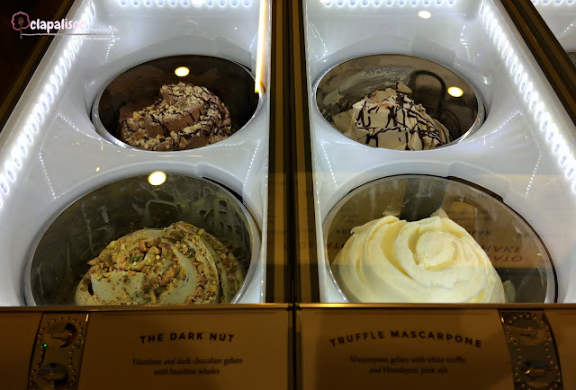 Gelato flavors from Manila Creamery UP Town Center