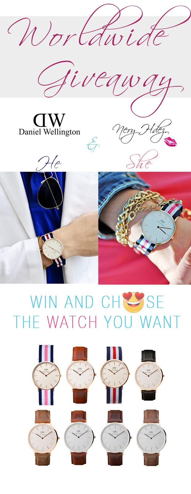 sorteo, giveaway, worldwide giveaway, SNB blog, daniel wellington