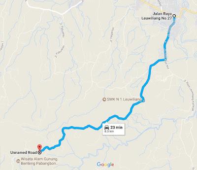 rute menuju rumah pabangbon, leuwiliang, bogor