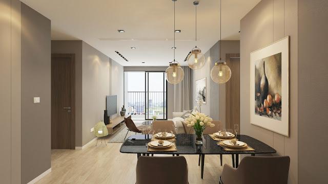 Mẫu thiết kế phòng khách căn hộ Riverside Garden