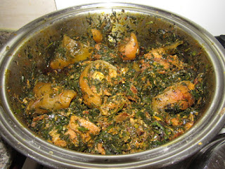 Afang soup cooked with cow tail