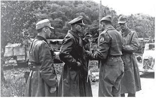 The moment at which General Otto Fretter-Pico (second left) formally surrendered to Brazilian forces in Fornovo di Taro