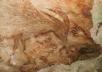 Lukisan Tertua, Lukisan Tangan di Gua, Lukisan Zaman Purba, Lukisan Manusia Purba.