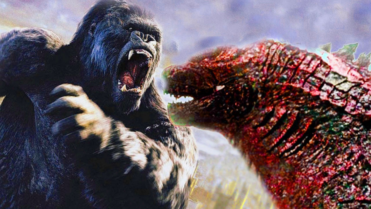 monster huge gorilla fights evil dinosaur cartoon action lion king