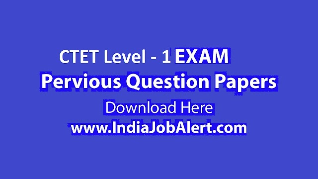 CTET Primary Level Previous year Question Paper || Download Here